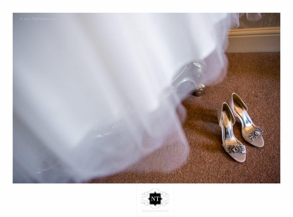 Civil wedding details bride's shoes