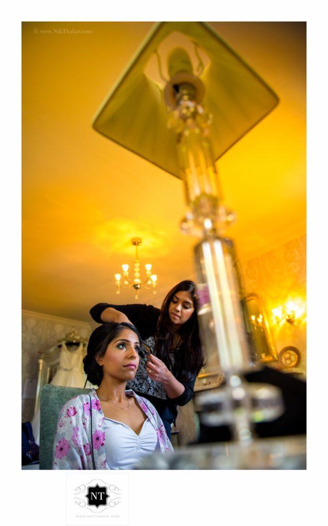 Bride gettting ready photography London