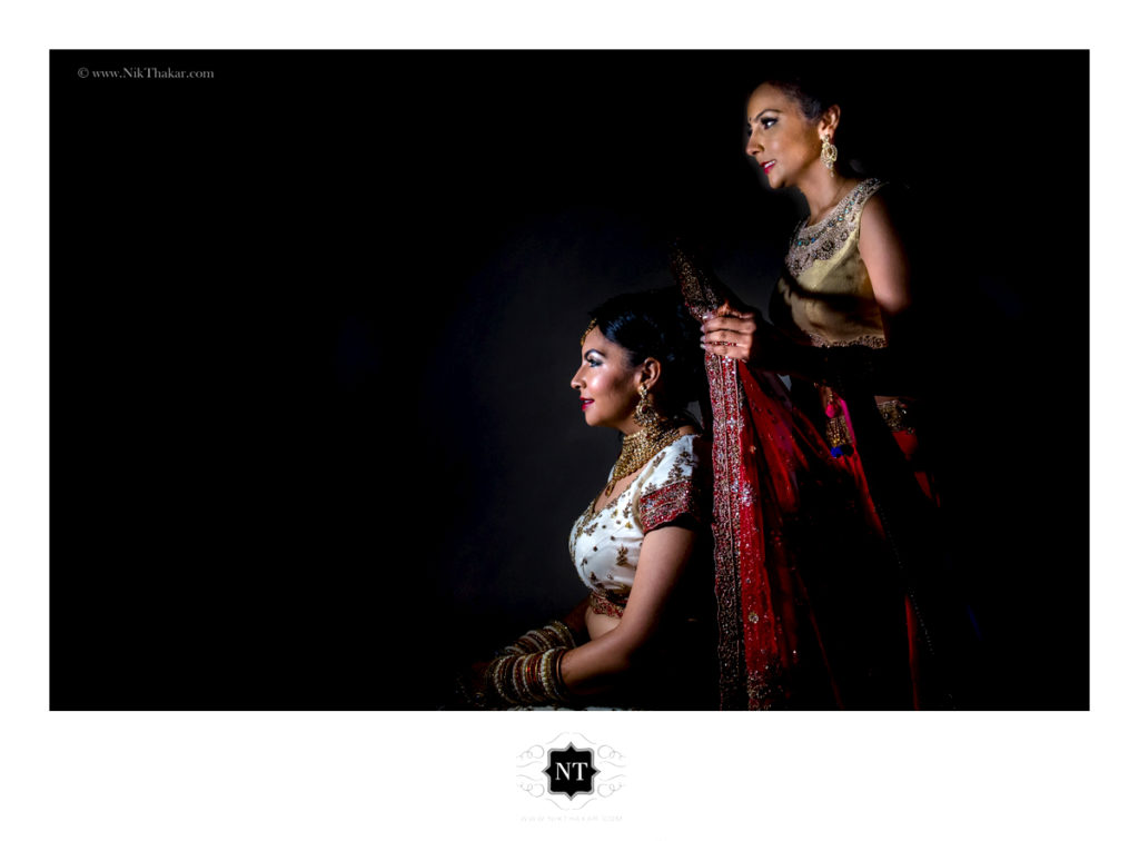 Indian wedding Bride getting ready photography