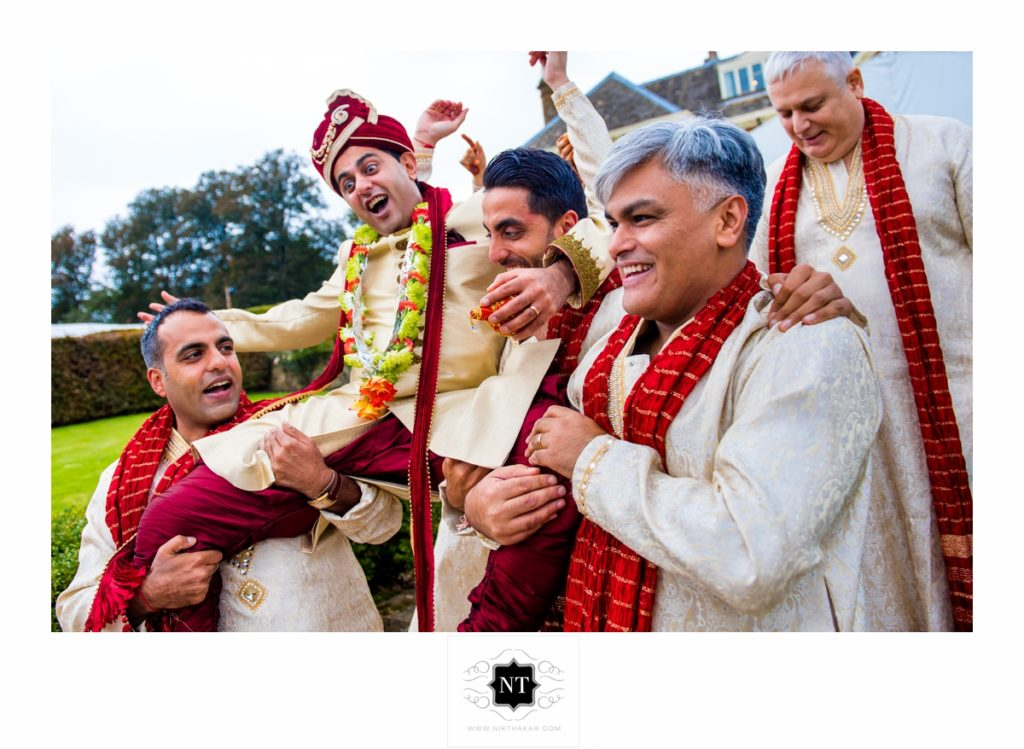 grooms party indian wedding nik thakar photography