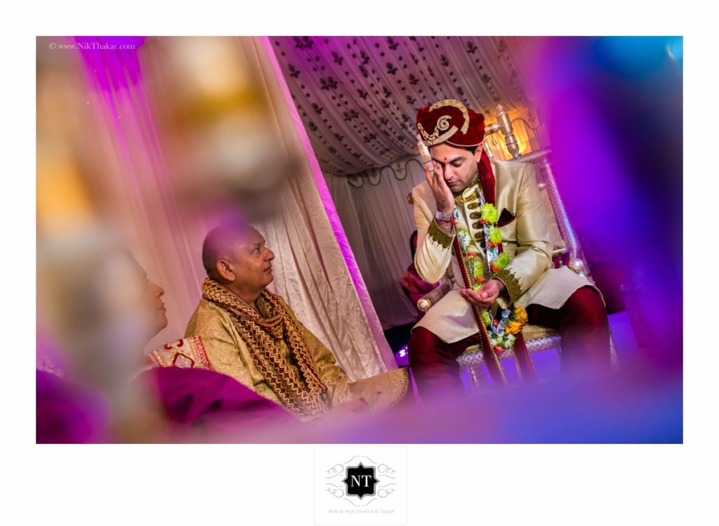 groom ceremony at indian wedding in mandap