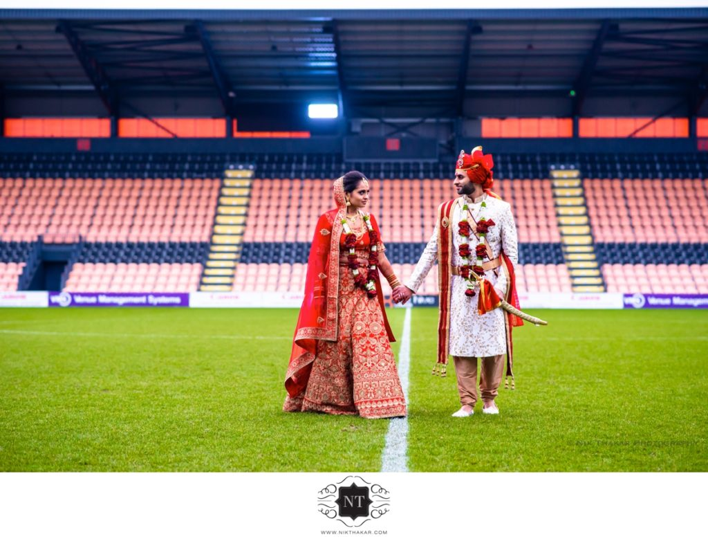The Hive Indian Gujarati wedding Couple portraits