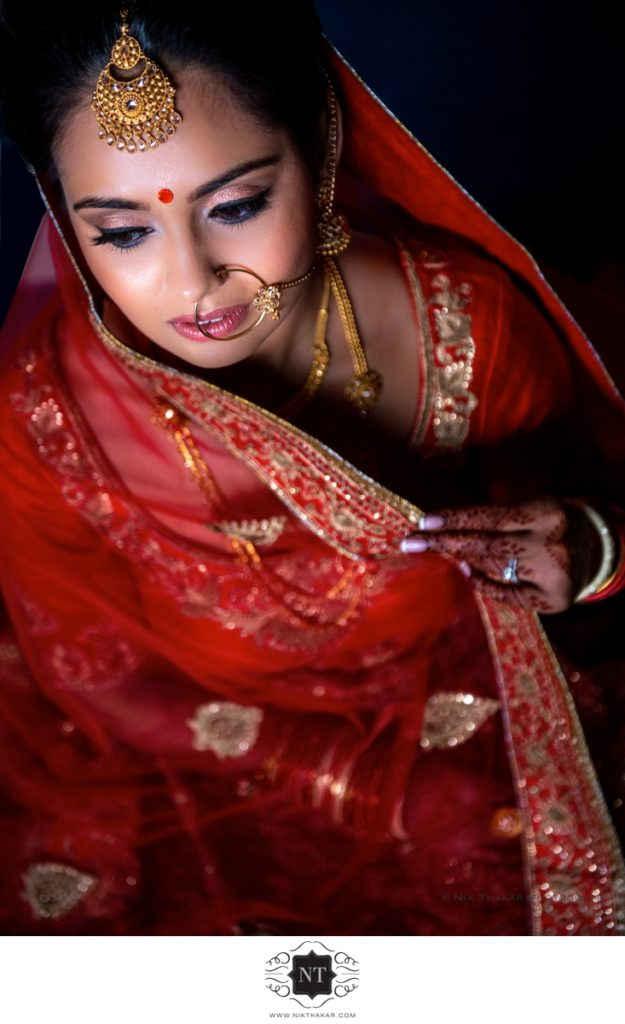 The Hive Indian Gujarati wedding Bridal portrait